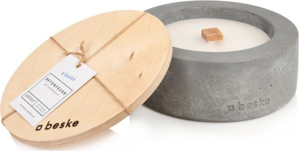 Betonfeuer Outdoor Ø 25cm Variante 3 inkl. Löschbrett ~ 100% HANDARBEIT Made in Germany