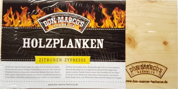 Don Marcos Holzplanke Zitronen ~ Zypresse 2 Stück im Set