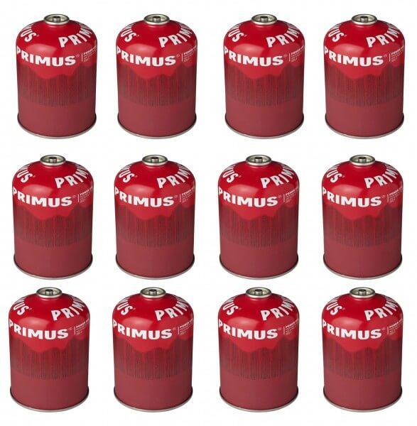 12x Power Gas Ventilgaskartusche mit selbstschließendem Ventil - 450g (PG450)