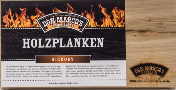 Don Marcos Holzplanke Hickory 2 Stück im Set