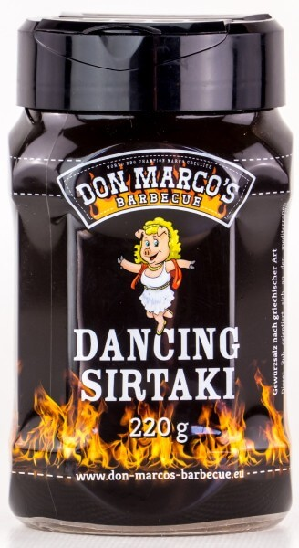 Don Marcos Dancing Sirtaki BBQ Rub Grillgewürz in 220g Streudose