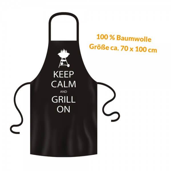 Grillschürze - Küchenschürze - Kochschürze ~ KEEP CALM AND GRILL ON ~ (2964)