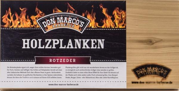 Don Marcos Holzplanke Rot Zeder 2 Stück im Set