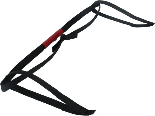 Cutcase 515 ~ Tragegurt in Schwarz aus Textliband mit Silikongriff ~ CZ-01.2
