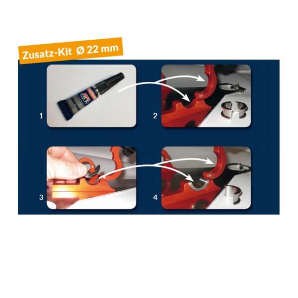 Adapter Kit Ø 22mm für Relinghalterung Cobbgrill Premier & Compact