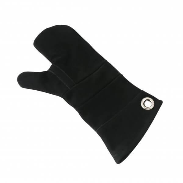 Ofenhandschuh aus Leder ca. 40 cm lang ~ schwarz ~ 100% Leder
