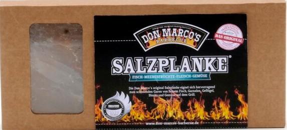 Original Salzplanke® ~ S ~ 20 x 10 x 2 cm ~ für Fisch - Garnelen - Geflügel - Steaks und Gemüse