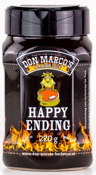 Don Marcos Happy Ending® BBQ Rub Grillgewürz in 220g Streudose