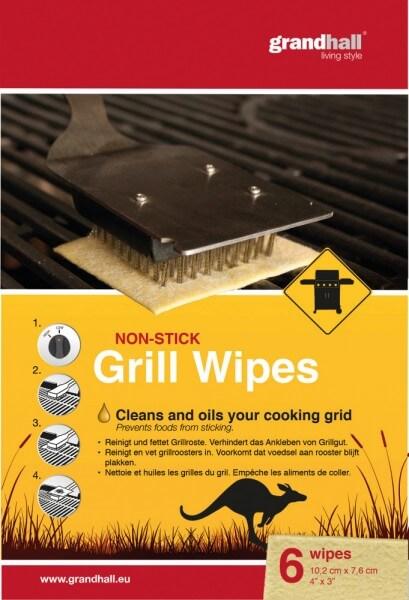 Grill Reinigungstücher ~ Reinigt und fettet Grillroste ~ 6 Tücher