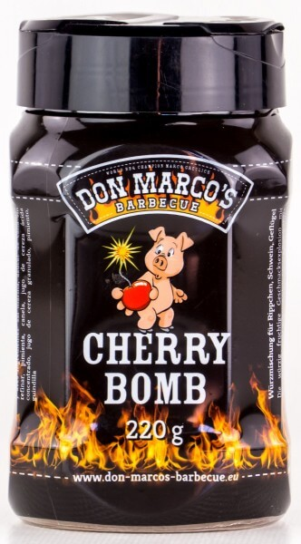 Don Marcos Cherry Bomb BBQ Rub Grillgewürz in 220g Streudose