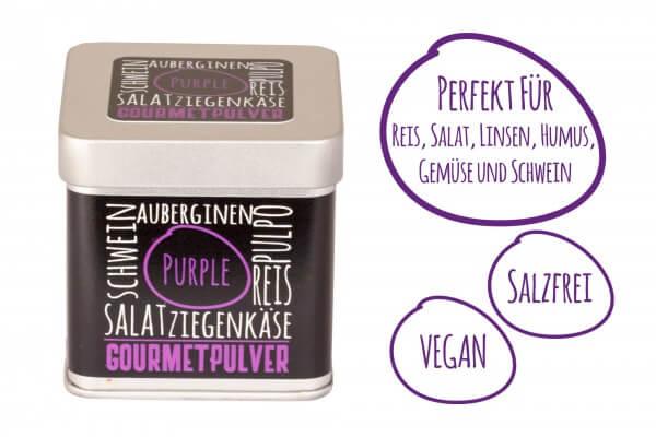 Gourmetpulver ~ Gewürzmischung - Würfeldose Purple 70g