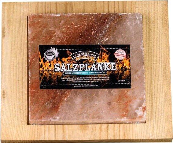 Original Salzplanke® Servierset ~ L ~ 20 x 20 x 2,5 cm  inkl. Servierbrett
