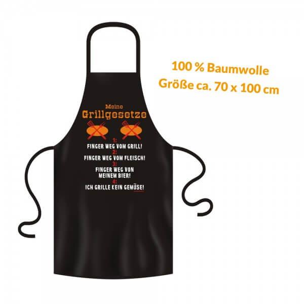Grillschürze - Küchenschürze - Kochschürze ~ Meine Grillgesetze ~ (2924)