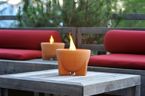 Schmelzfeuer Outdoor CeraNatur - Die windsichere Gartenfackel zum Kerzen-Recyceln - SFD