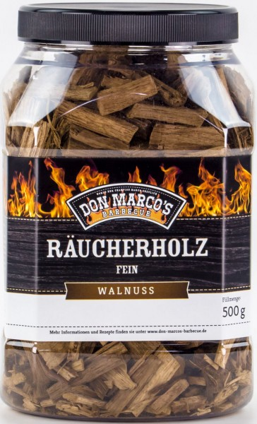 Räucherholz FEIN aus 100 % reinem Walnuss-Holz - verleiht Ihren Speisen ein authentisches BBQ Aroma