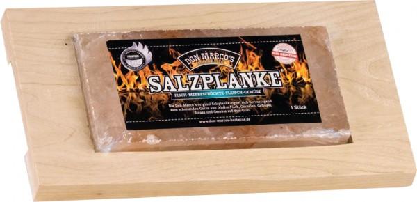 Original Salzplanke® ~ L ~ 20 x 10 x 2 cm inkl. Servierbrett
