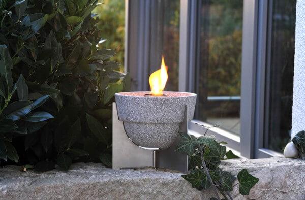 Anti-Insekt-Set Schmelzfeuer Outdoor L Granicium mit Deckel und Fuß aus Edelstahl - SLG