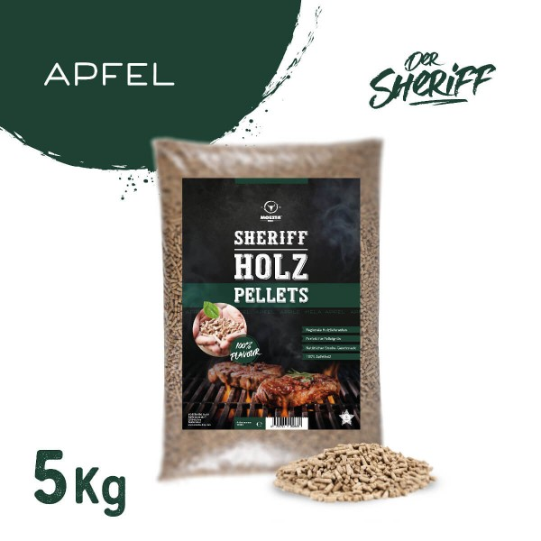 Moesta BBQ Apfel Hartholz Sheriff Pellets 5 kg