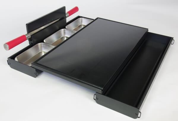 Cutcase 515 Schneidbrett Tool ~ Komplett Set Schwarz mit PE Schneidbrett ~ CS-10.2