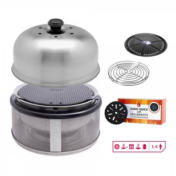 Cobb Grill Set inkl. Griddle (CO18) + Bratenrost (CO32)+ Grillplatte (CO102) + KOKO Quick