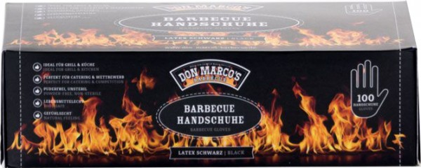 Barbecue Handschuhe Latex Schwarz ~ Größe S - M - L - XL ~ 100 Stück