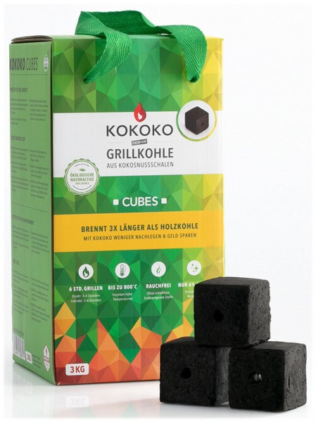 12KG KOKOKO CUBES für Cobb Holzkohlegrill & Minion-Ring & Dutch Oven