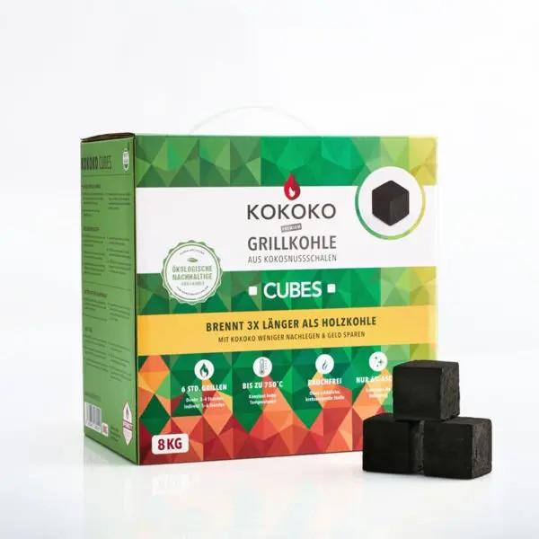 8KG KOKOKO CUBES für Cobb Holzkohlegrill & Minion-Ring & Dutch Oven