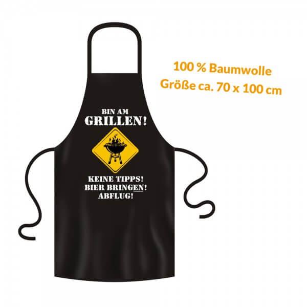 Grillschürze - Küchenschürze - Kochschürze ~ BIN AM GRILLEN ~ (2911)