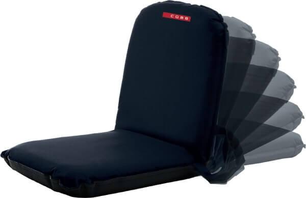 4x Cobb Klappsitz ~ Sitzkissen mit 6 Einstellungen ~ 48cm x 93cm x 7cm ~ Schwarz (CO63-4)