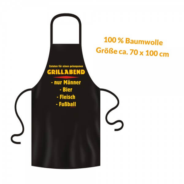 Grillschürze - Küchenschürze - Kochschürze ~ Grillabend nur Männer ~ (2948)